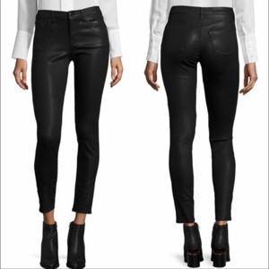 J brand- super skinny coated jeans fearless